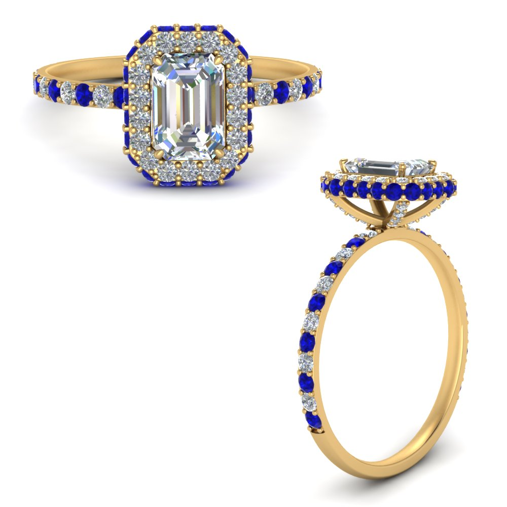 emerald-cut-rollover-halo-diamond-ring-with-sapphire-in-FD9376EMRGSABLANGLE3-NL-YG