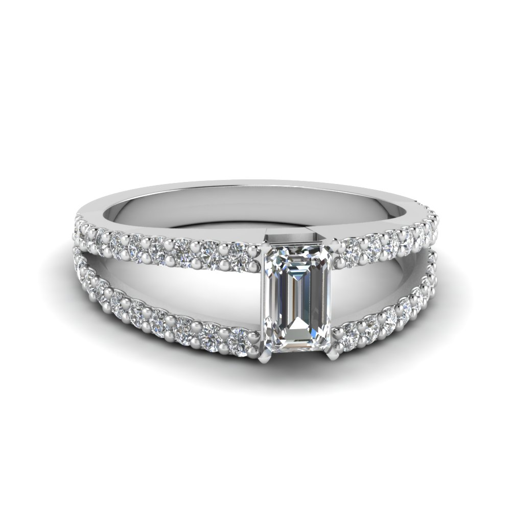Emerald Cut Diamond Thin Band Ring