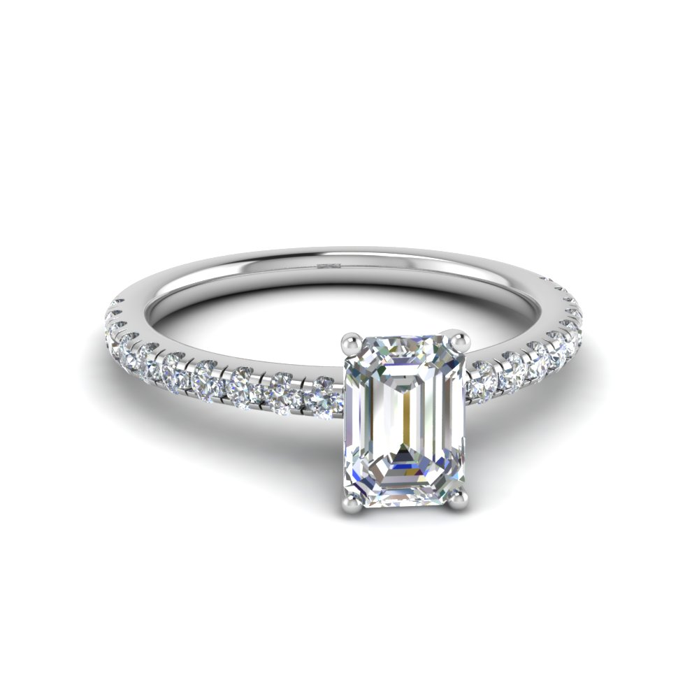Emerald Cut Petite Engagement Rings