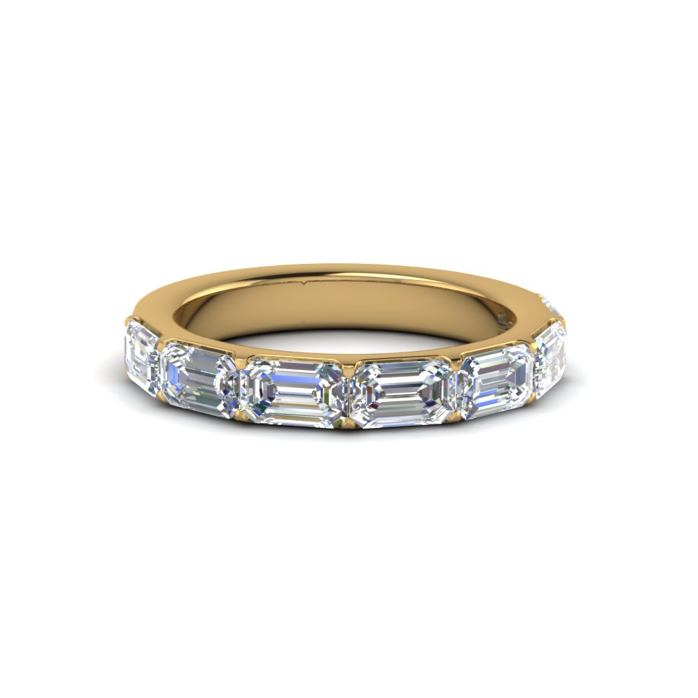 wide gabriel ladies band diamond gold ring white bands