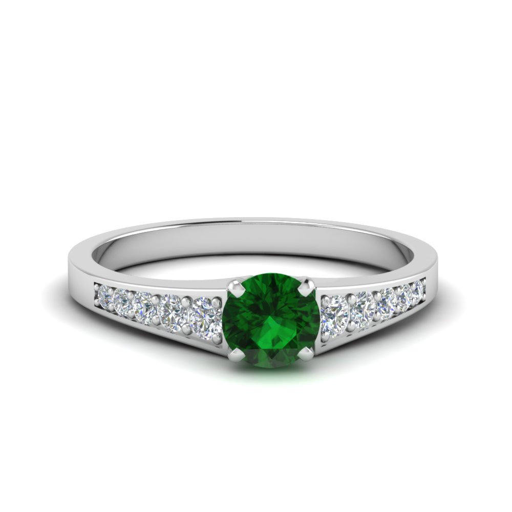Graduated May Birthstone Engagement Ring
