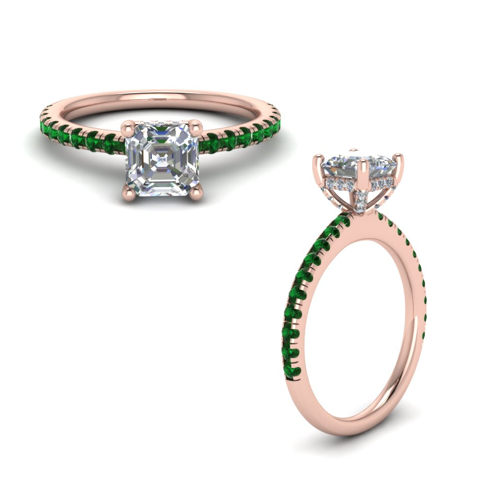 d71acc41f0d90a emerald prong asscher cut diamond petite engagement ring in  FD8523ASRGEMGRANGLE1 NL RG GS