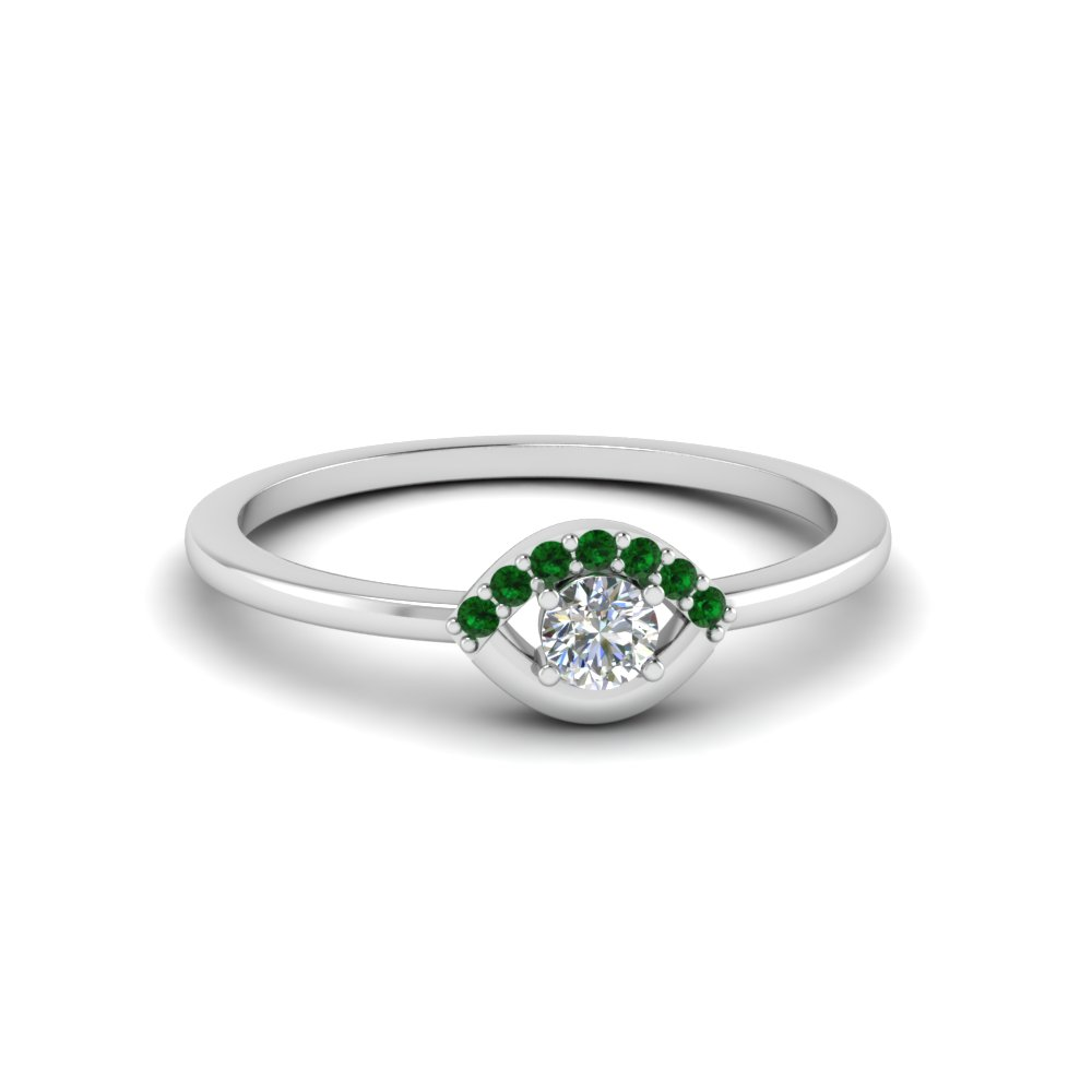 emerald small diamond promise ring for her in FD8004RORGEMGR NL WG GS.jpg