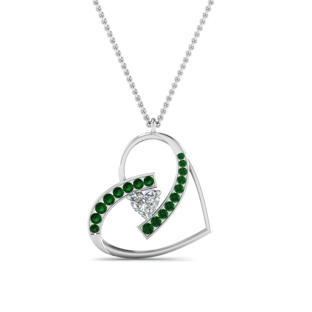 Emerald Heart Design Pendant
