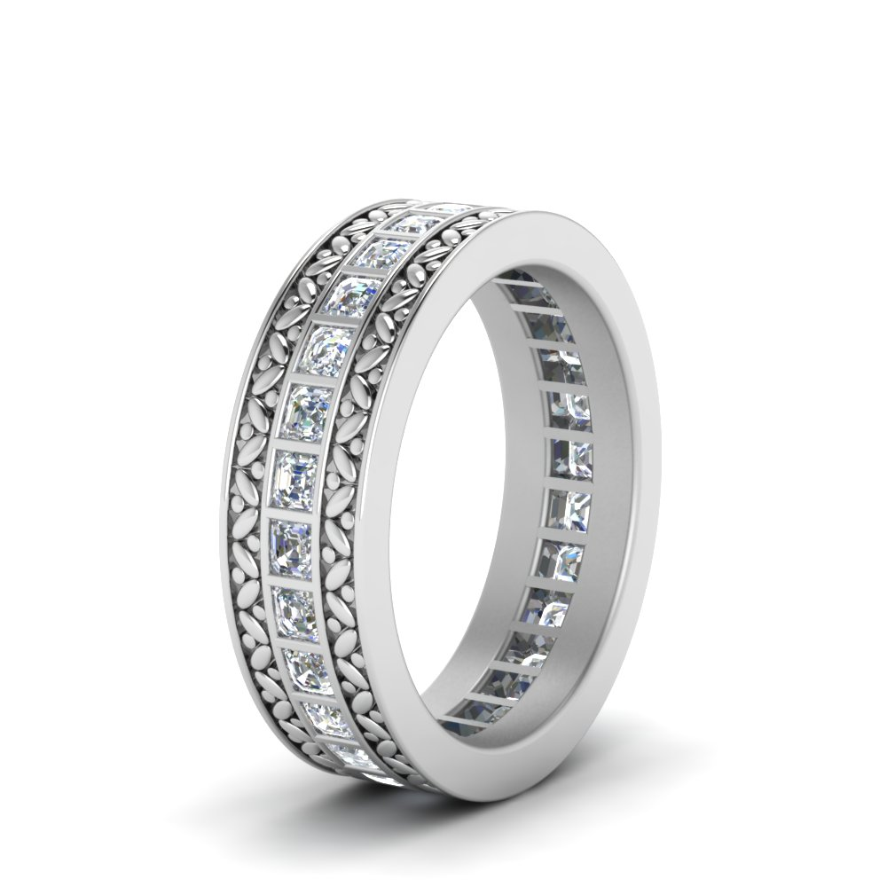 round wide anniversary diamond designer band caymancode ct k eternity rings baguette bands