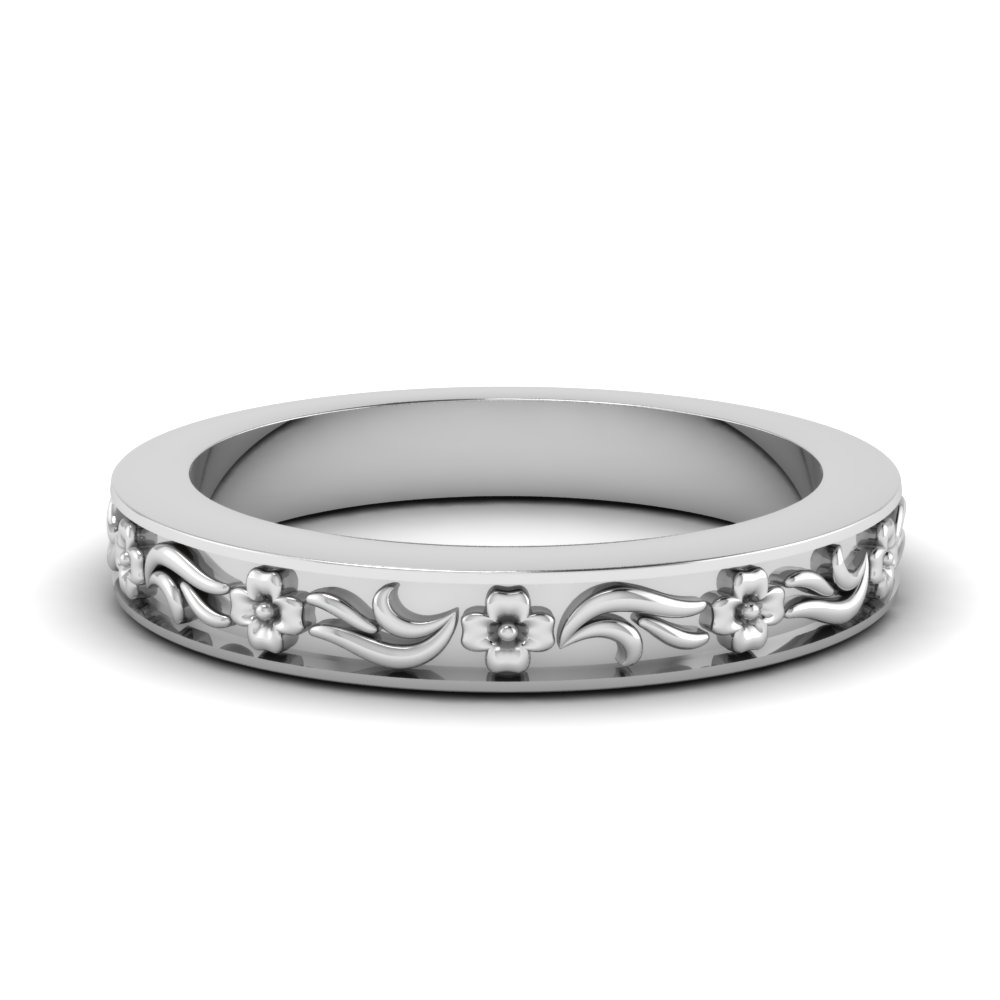 engraved flower wedding band in FDENS3500B NL WG.jpg
