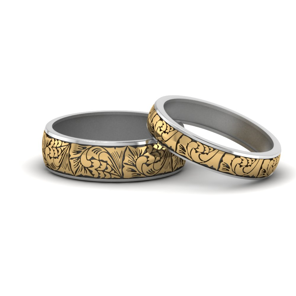 Engraved Matching Rings For Him And Her