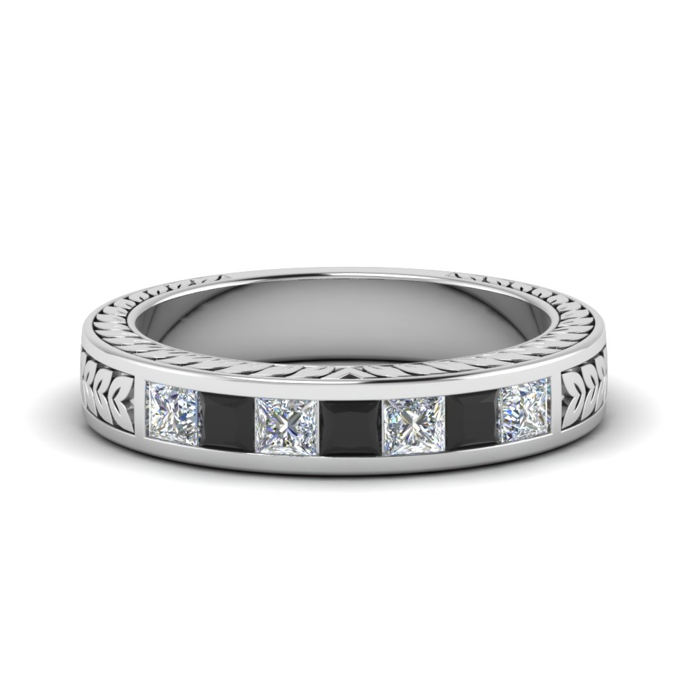 Black Diamond Princess Cut Band