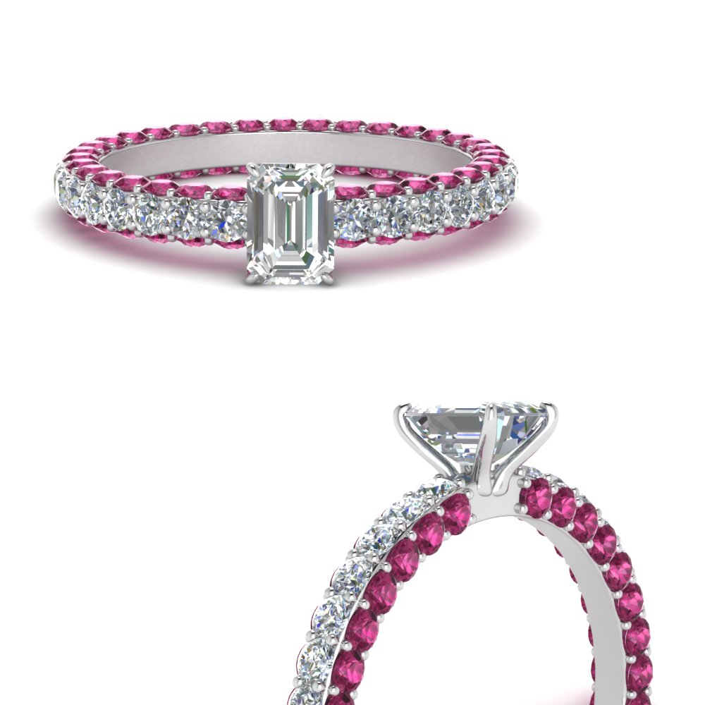 eternity-emerald-cut-diamond-engagement-ring-with-pink-sapphire-in-FD9240EMRGSADRPIANGLE3-NL-WG