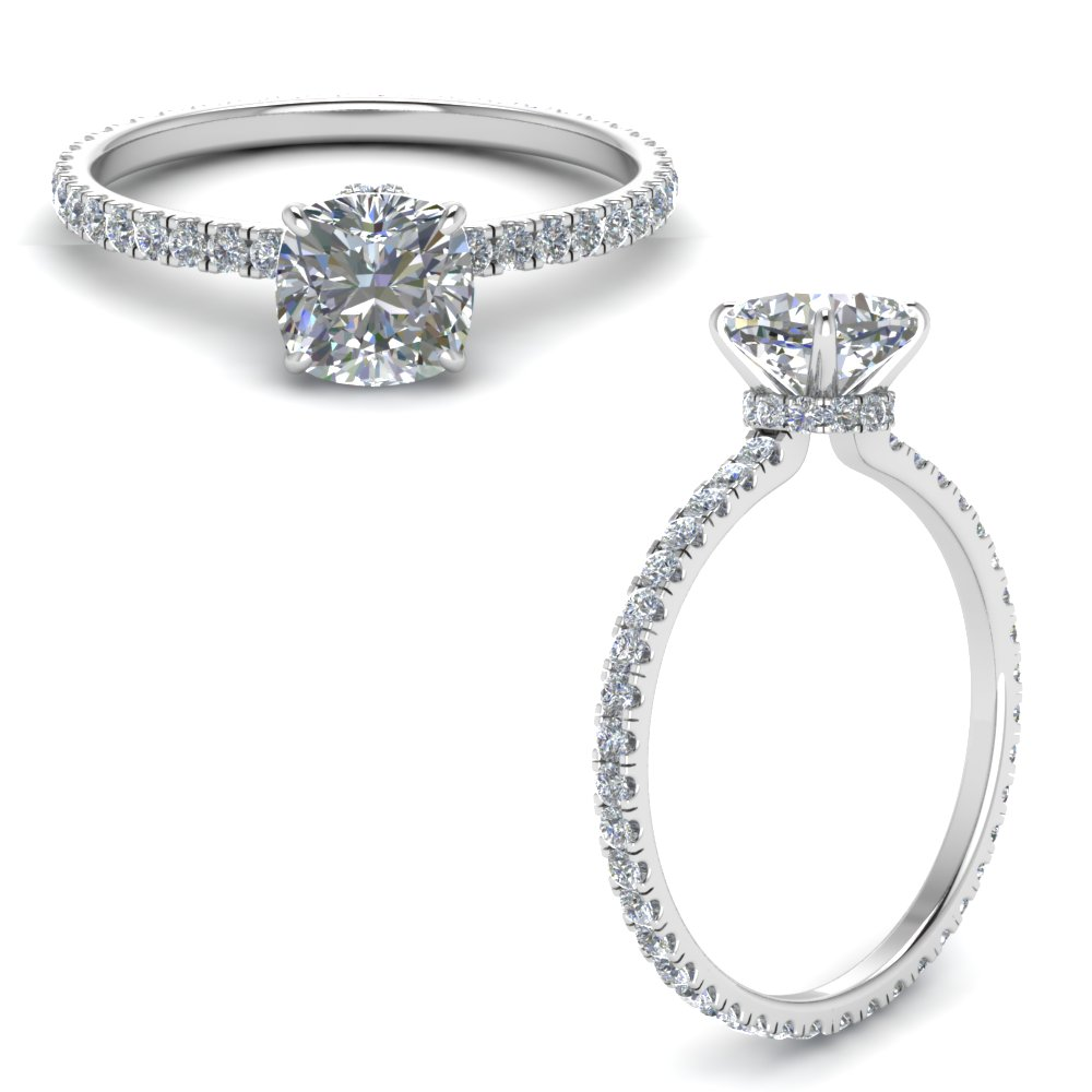 Cushion Cut Delicate Rings