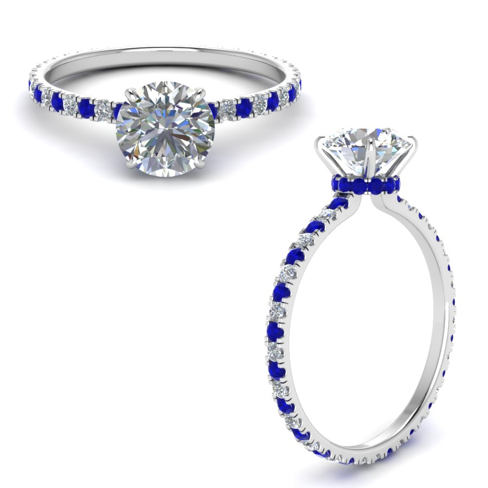 eternity-hidden-halo-round-cut-diamond-engagement-ring-with-sapphire-in-FD9168RORGSABLANGLE3-NL-WG