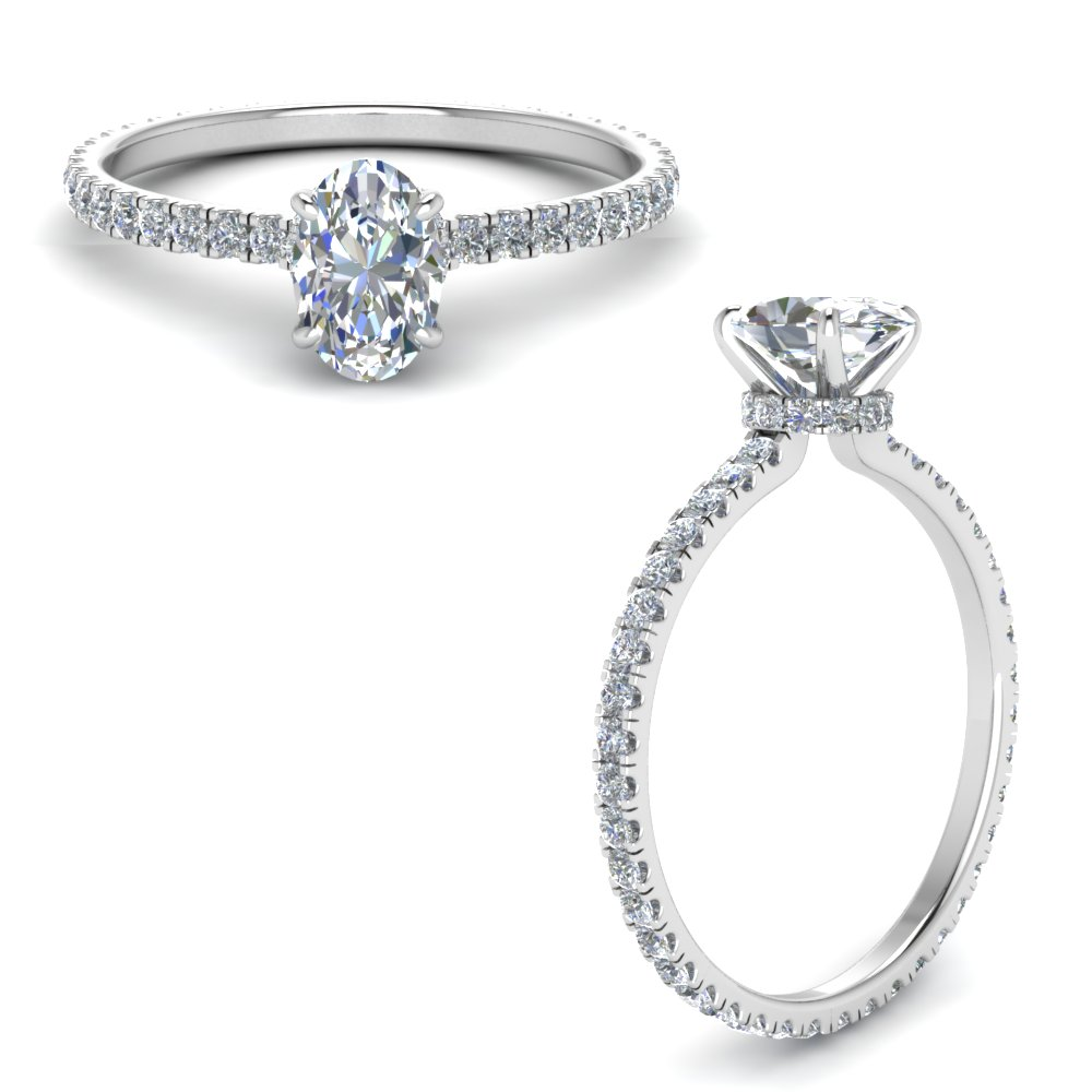 Eternity Hidden Halo Engagement Ring