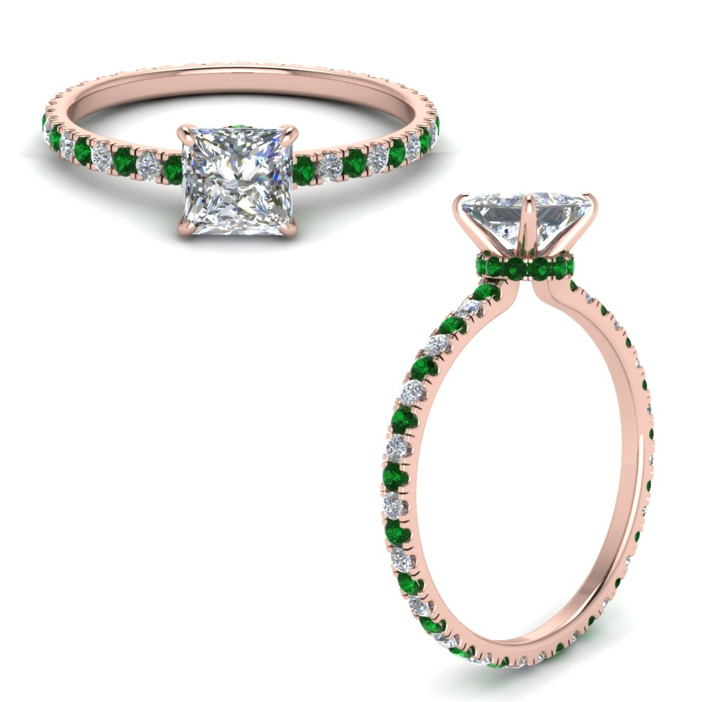 eternity-hidden-halo-princess-cut-lab diamond-engagement-ring-with-emerald-in-FD9168PRRGEMGRANGLE3-NL-RG