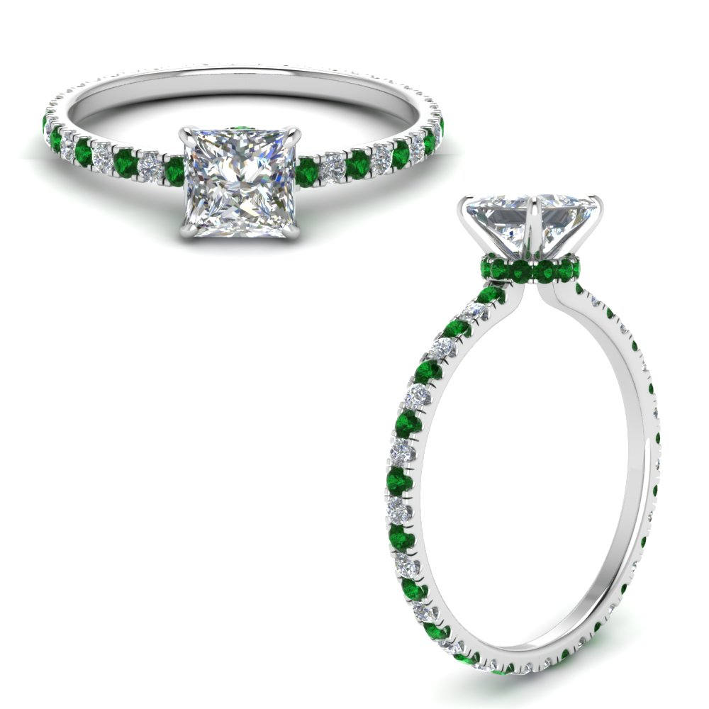 eternity-hidden-halo-princess-cut-diamond-engagement-ring-with-emerald-in-FD9168PRRGEMGRANGLE3-NL-WG