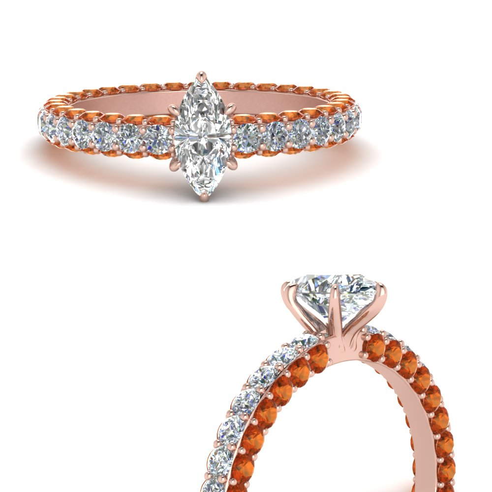 eternity-marquise-cut-diamond-engagement-ring-with-orange-sapphire-in-FD9240MQRGSAORANGLE3-NL-RG