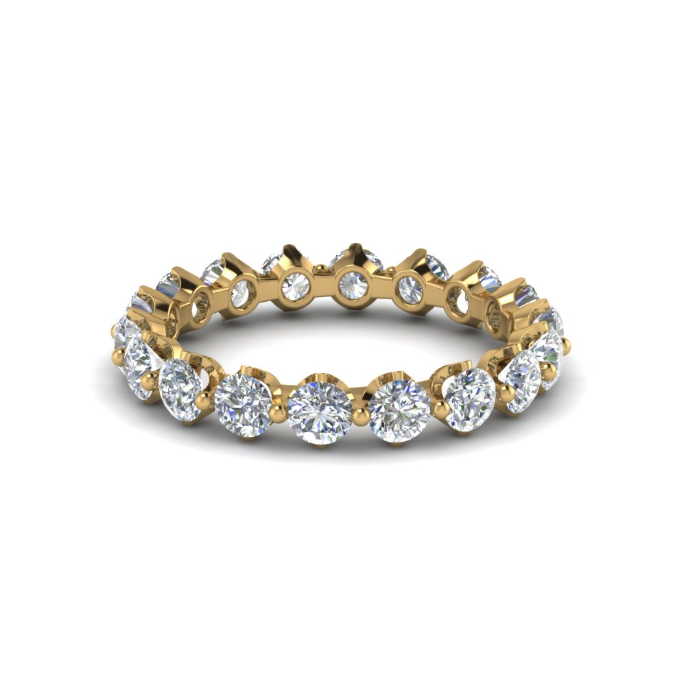 eternity round diamond stackable band in 18K yellow gold FD8072B NL YG