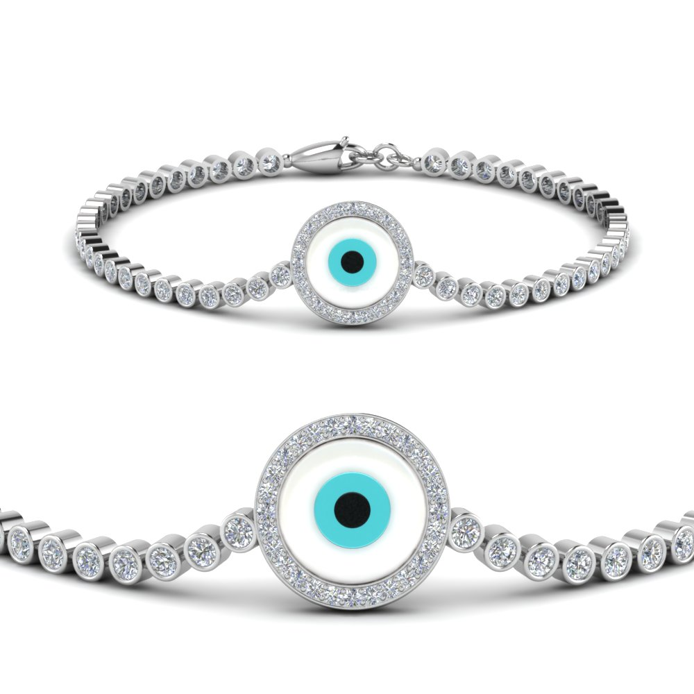 Evil Eye Round Diamond Bracelet