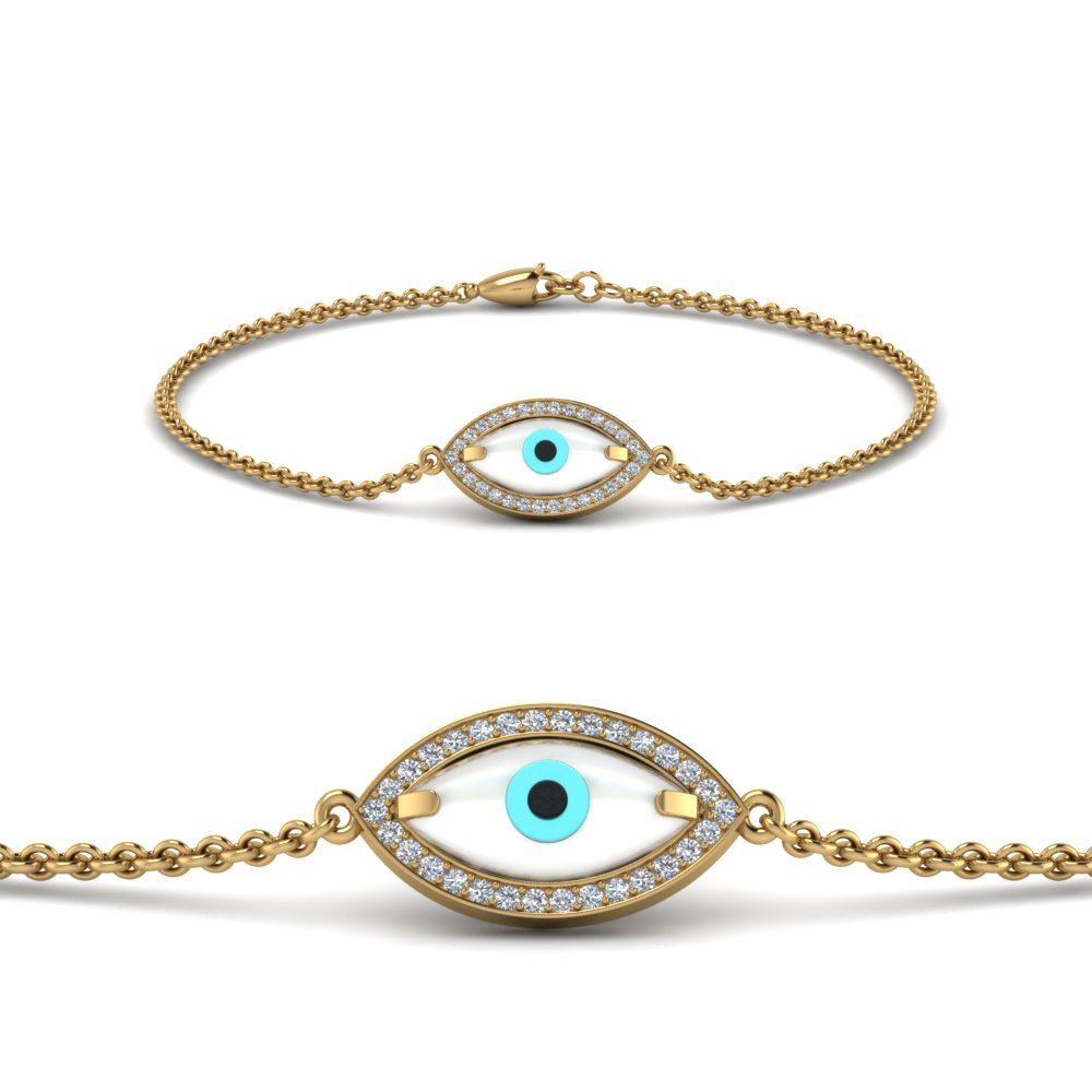 Evil Eye Diamond Bracelet