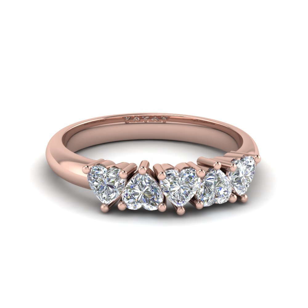 14k Rose Gold Women Diamond Wedding Ring