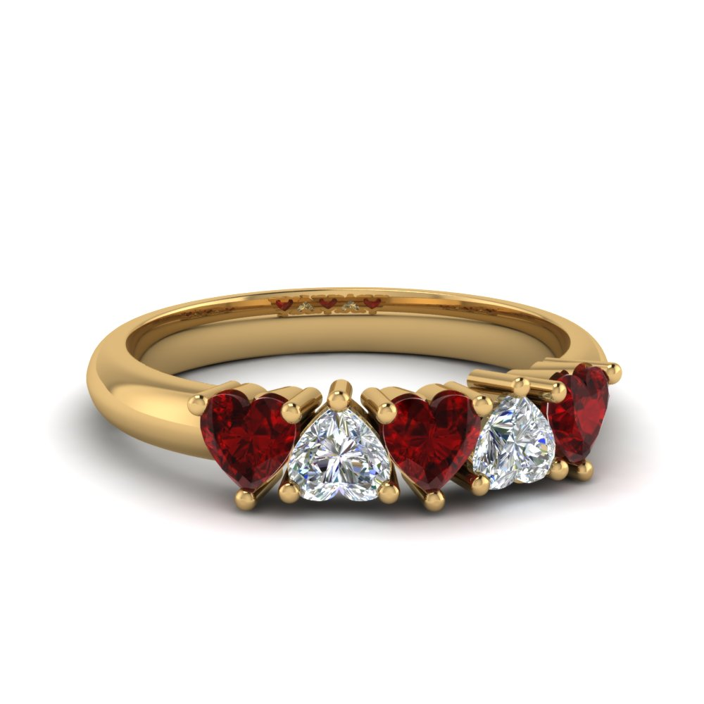 exclusive-5-stone-heart-shaped-wedding-band-with-ruby-in-FD8059HTBGRUDR-NL-YG