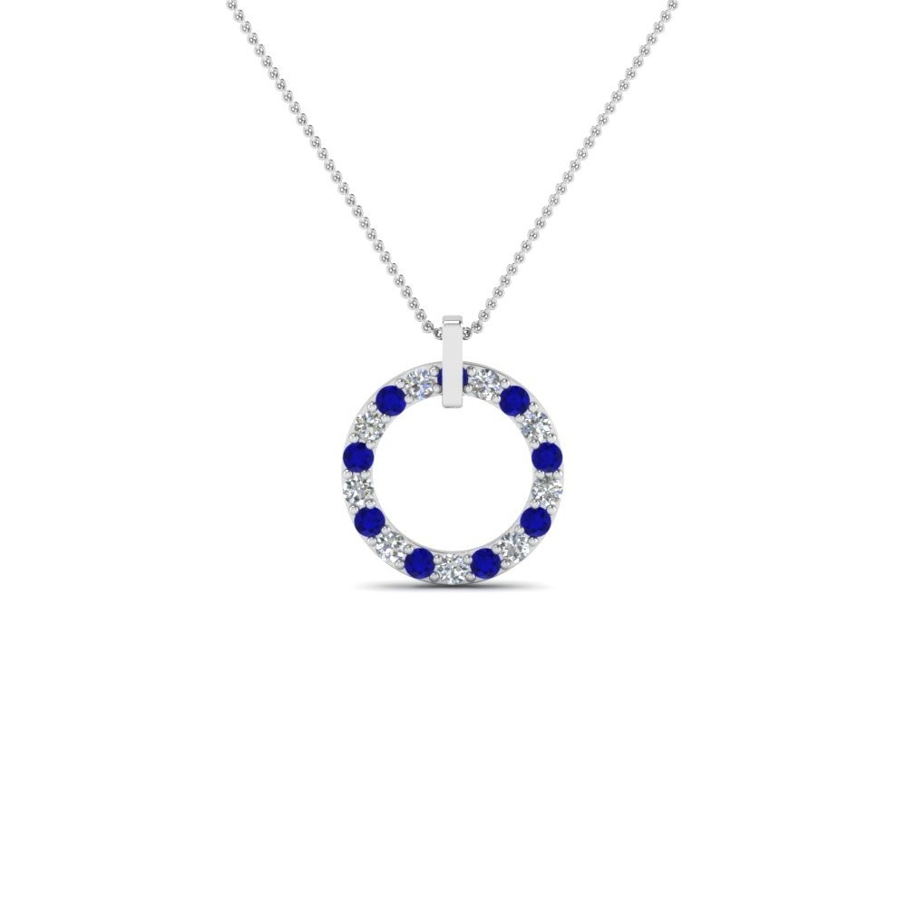 sapphire dp created women necklace blue jewelry amazon for com heart cupid pendant caperci arrow s
