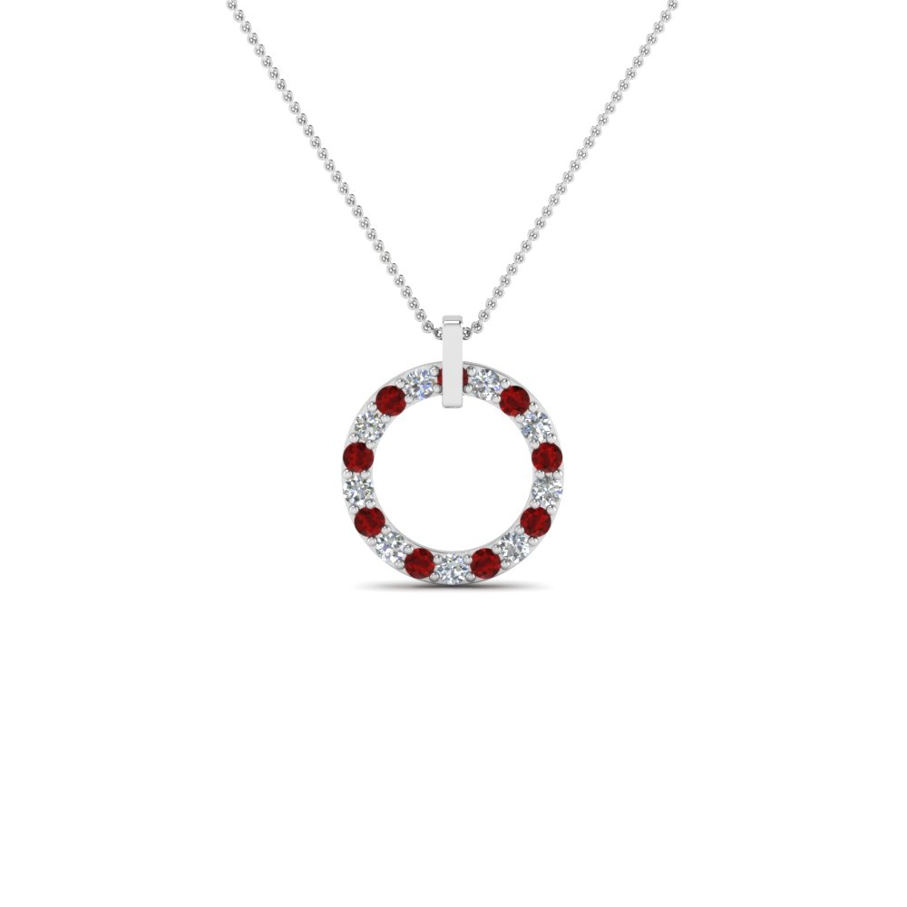 Ruby Pendant Necklace For Women