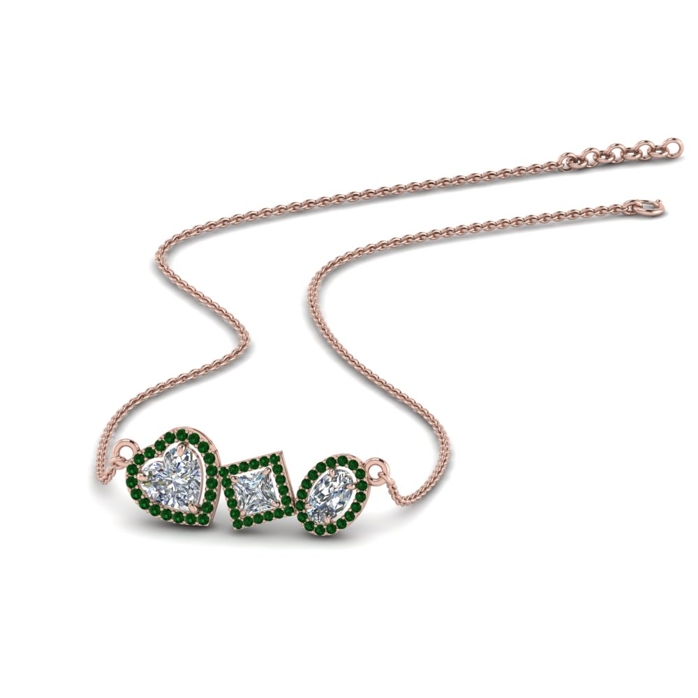 Halo Emerald Necklace