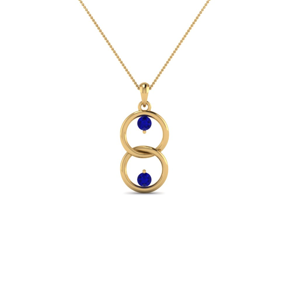 blue necklace gold top r white sapphire j oblong style