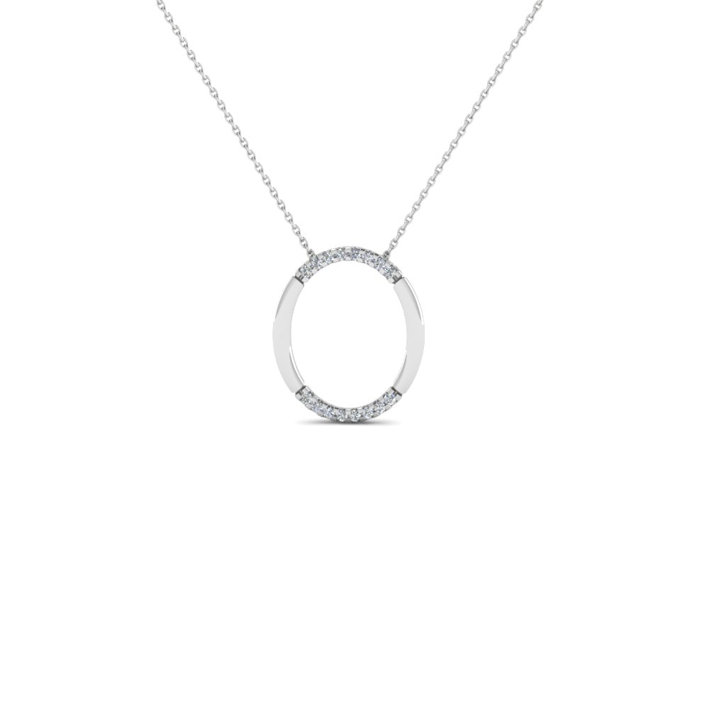 Fancy Open Oval Diamond Pendant