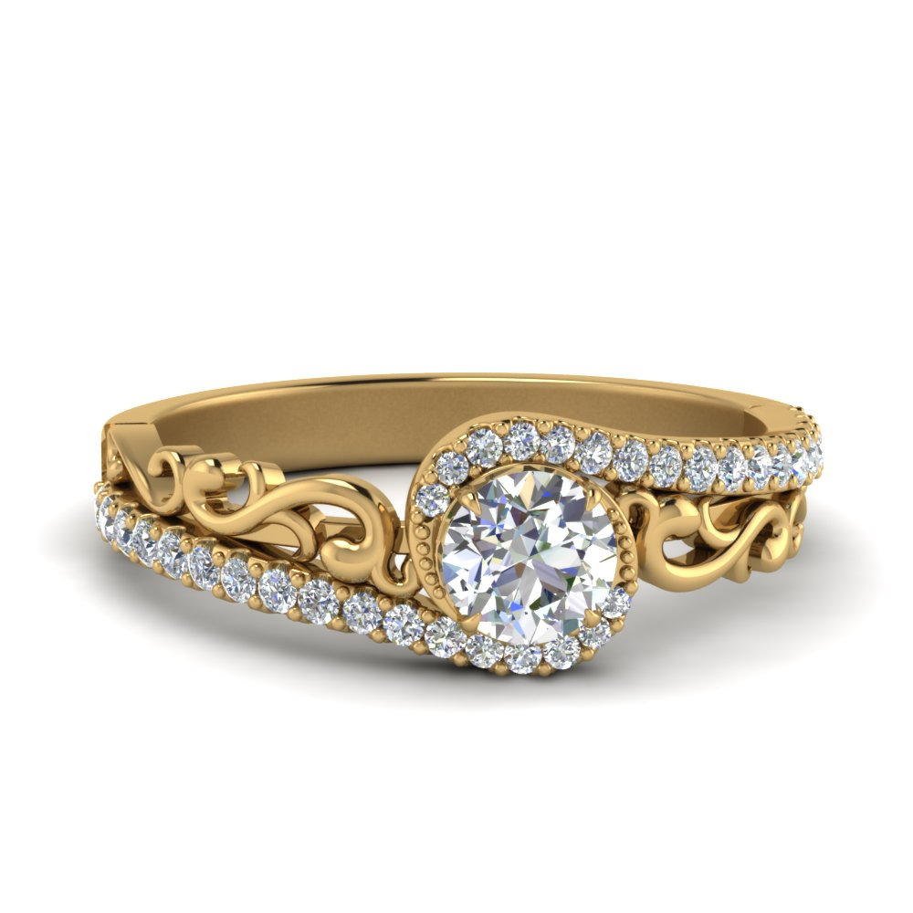 Round Diamond Crossover Ring