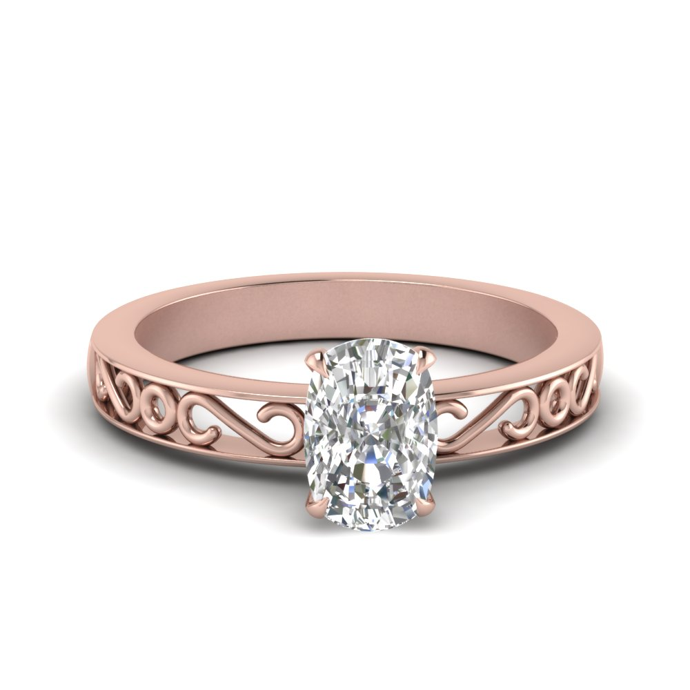 filigree-cushion-cut-single-stone-lab diamond engagement-ring-in-FDENS3289CUR-NL-RG