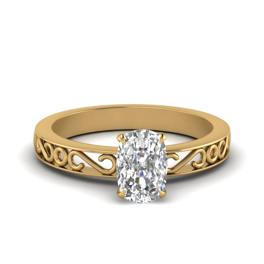 filigree-cushion-cut-single-stone-engagement-ring-in-FDENS3289CUR-NL-YG