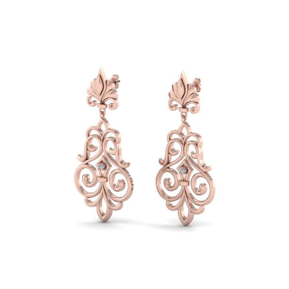 Filigree Dangle Drop Earrings