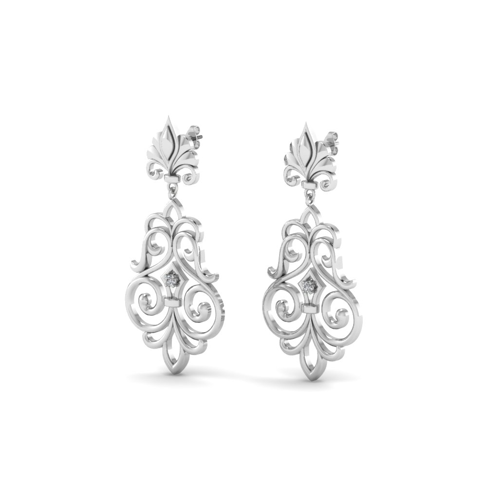 Filigree Style Drop Earring