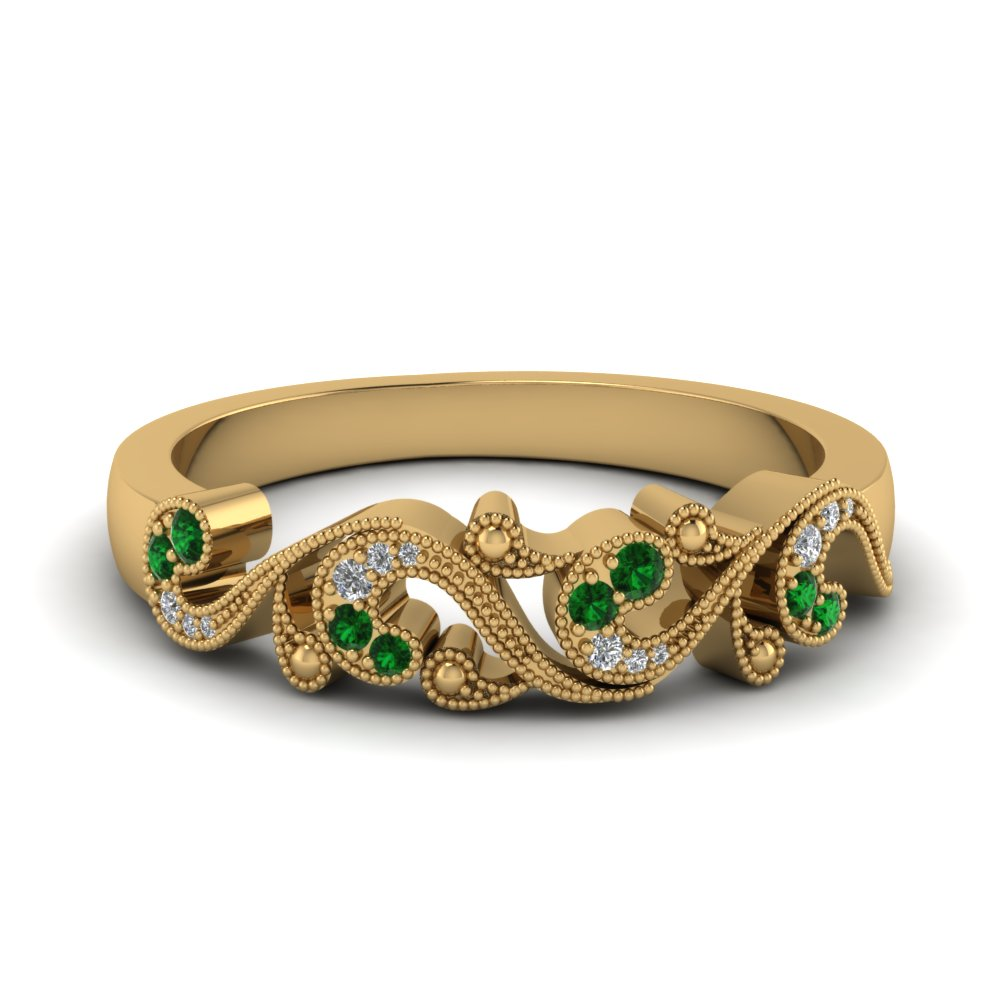 Emerald Wedding Bands For Women