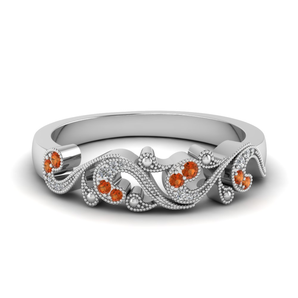 Filigree Wedding Band For Her