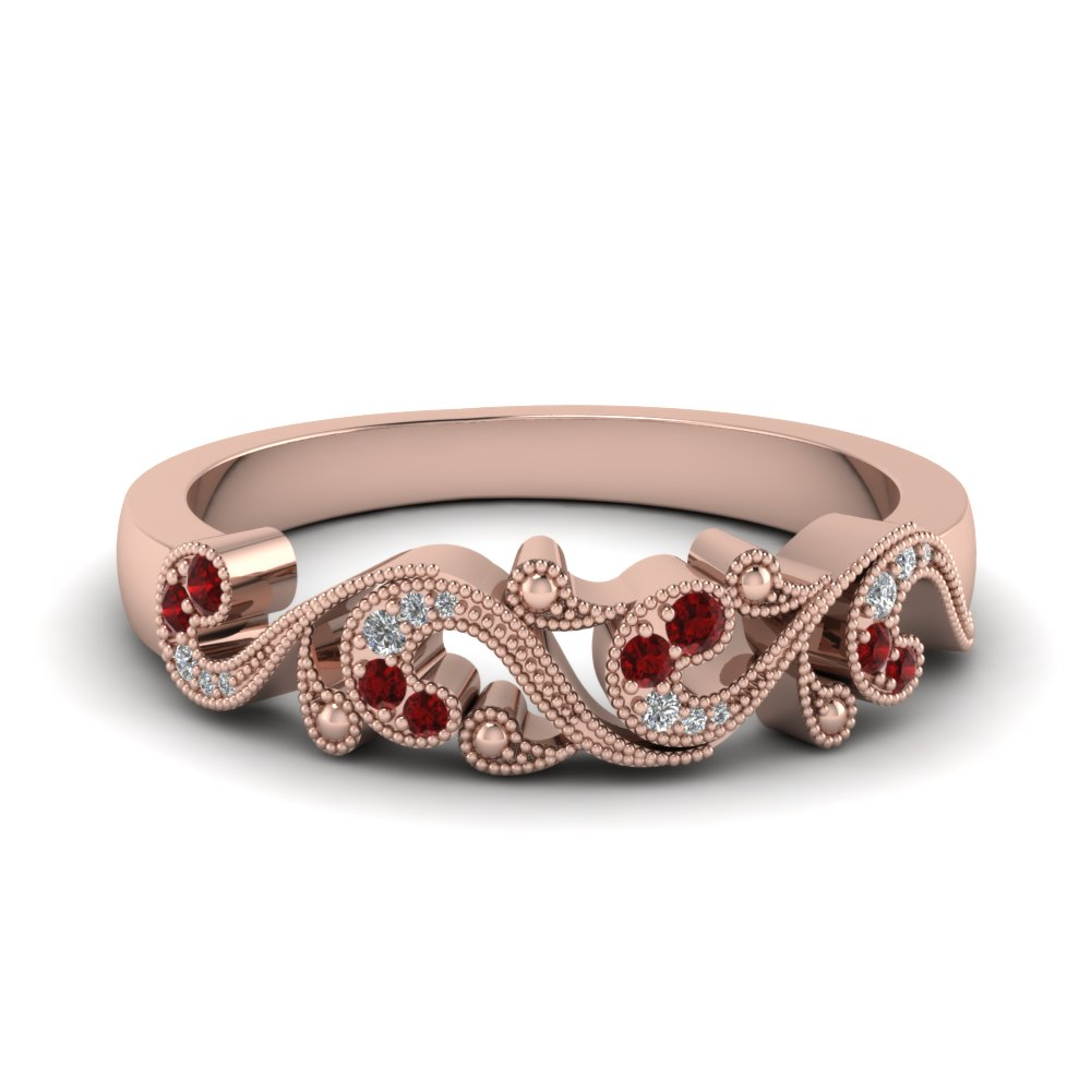 Filigree Ruby Band For Women