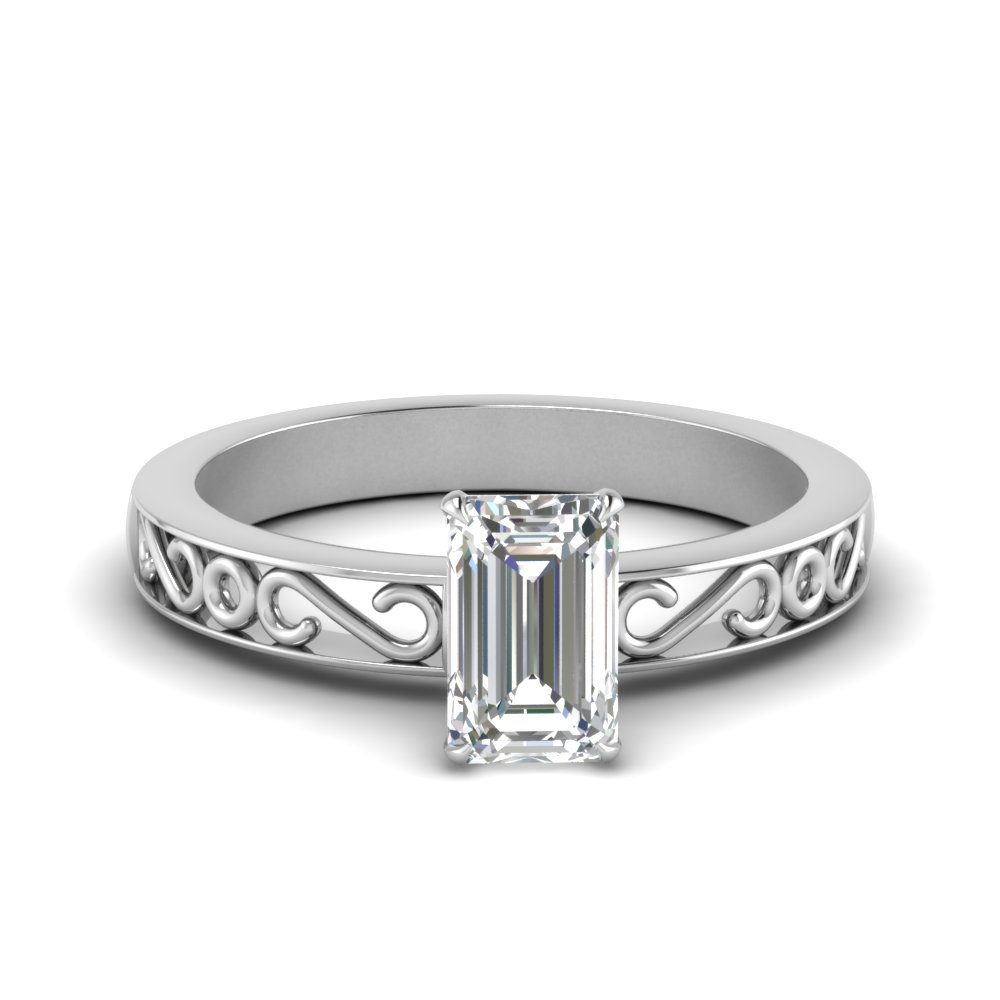filigree-emerald-cut-single-stone-moissanite engagement-ring-in-FDENS3289EMR-NL-WG
