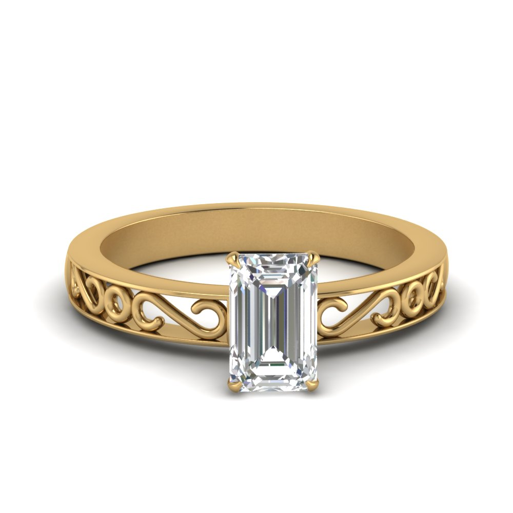 filigree-emerald-cut-single-stone-moissanite engagement-ring-in-FDENS3289EMR-NL-YG