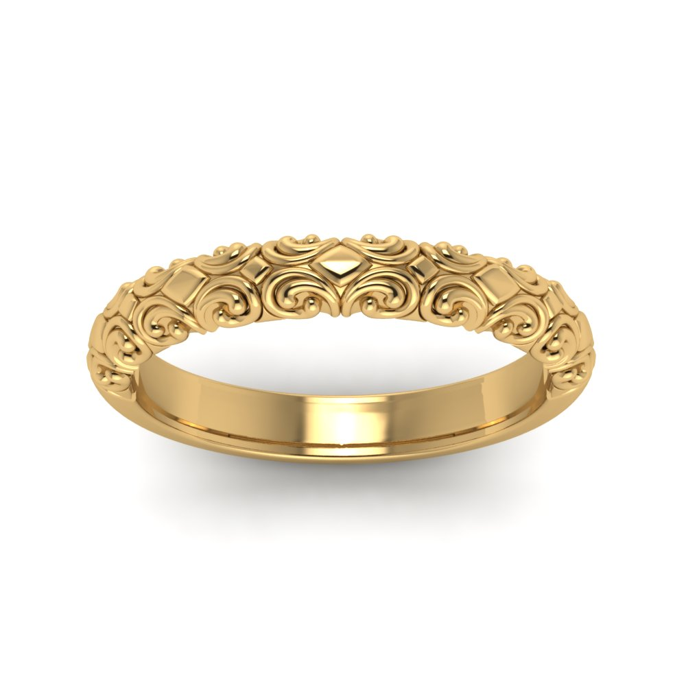Filigree Gold Vintage Wedding Band
