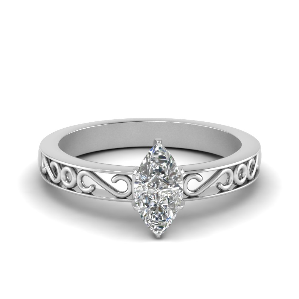 filigree-marquise-cut-single-stone-moissanite engagement-ring-in-FDENS3289MQR-NL-WG