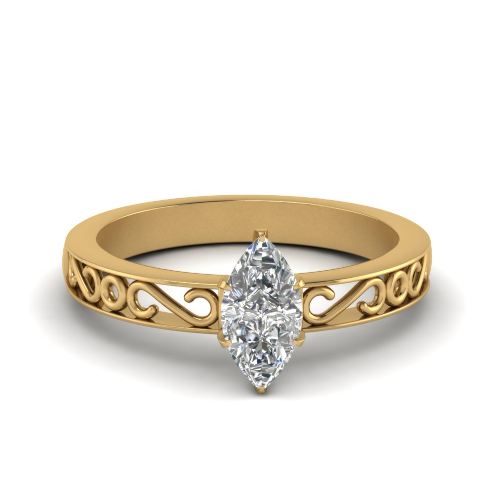 filigree-marquise-cut-single-stone-lab diamond engagement-ring-in-FDENS3289MQR-NL-YG