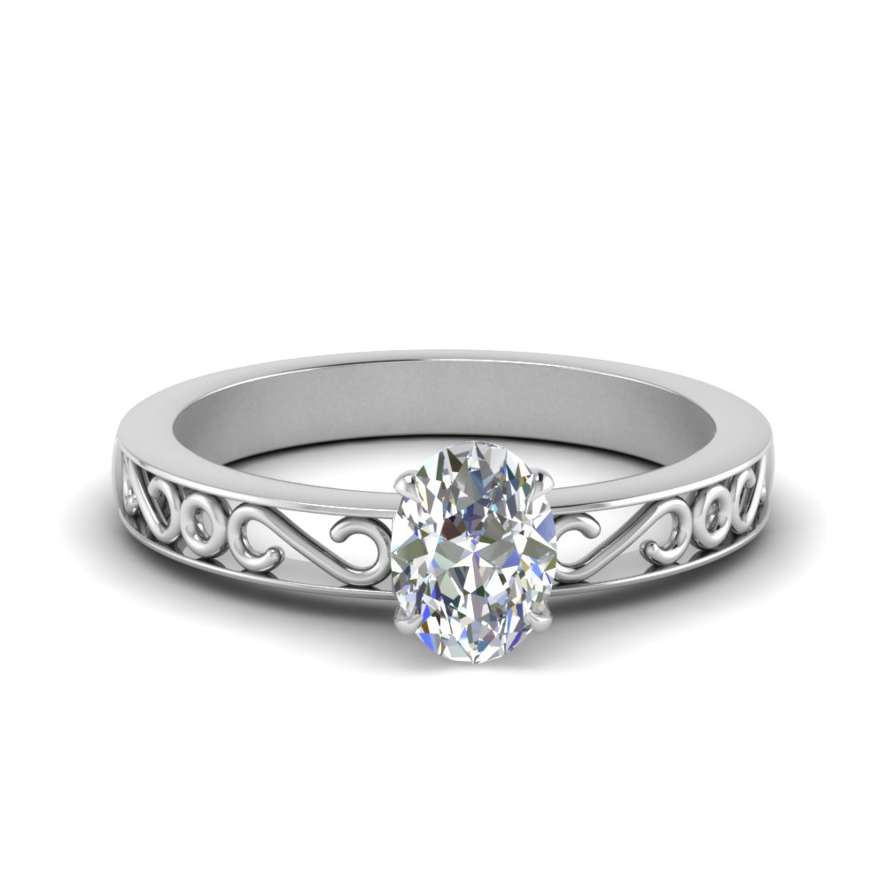 filigree-oval-shaped-single-stone-moissanite engagement-ring-in-FDENS3289OVR-NL-WG