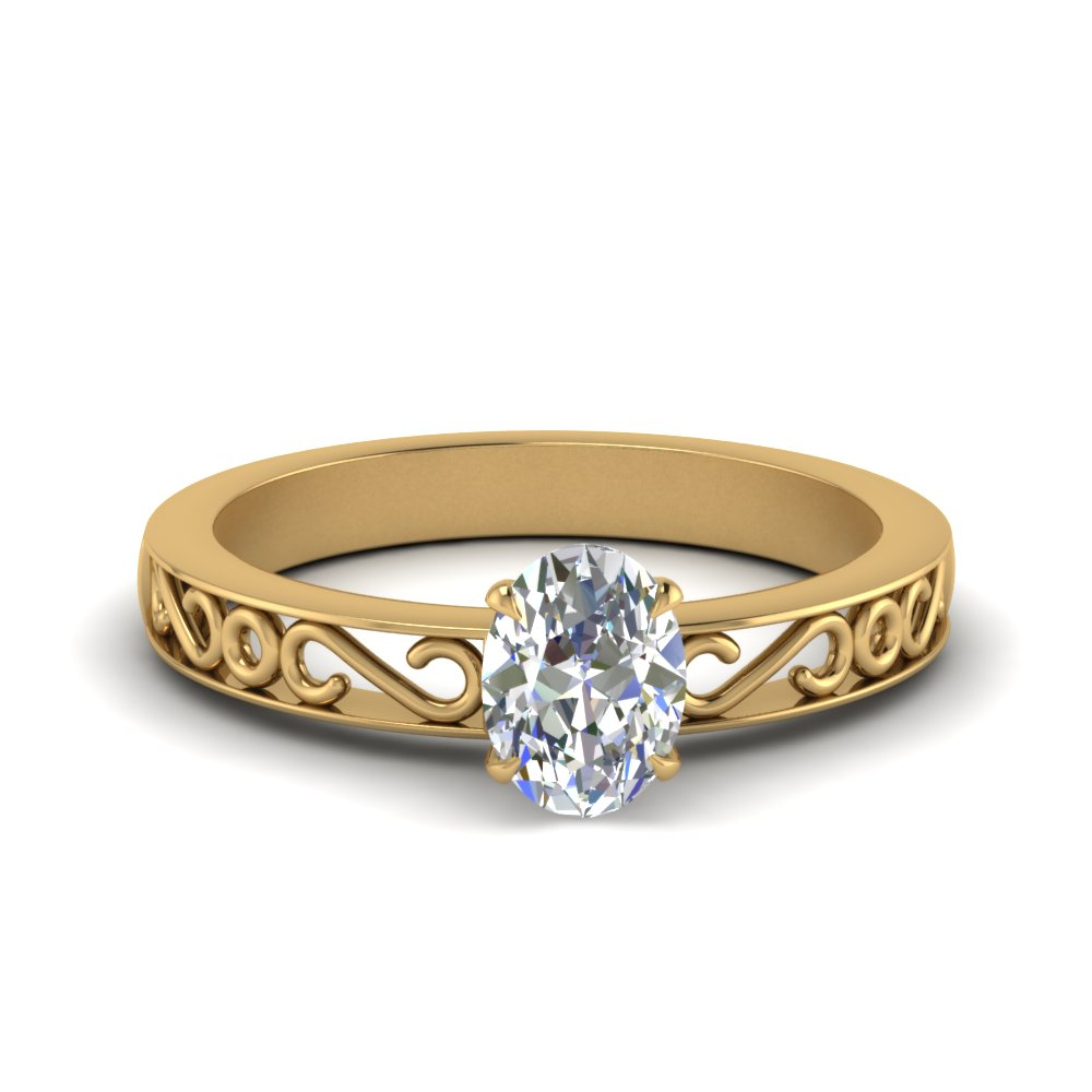 filigree-oval-shaped-single-stone-lab diamond engagement-ring-in-FDENS3289OVR-NL-YG
