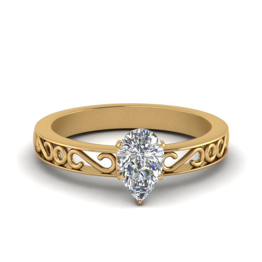 filigree-pear-shaped-single-stone-lab diamond engagement-ring-in-FDENS3289PER-NL-YG