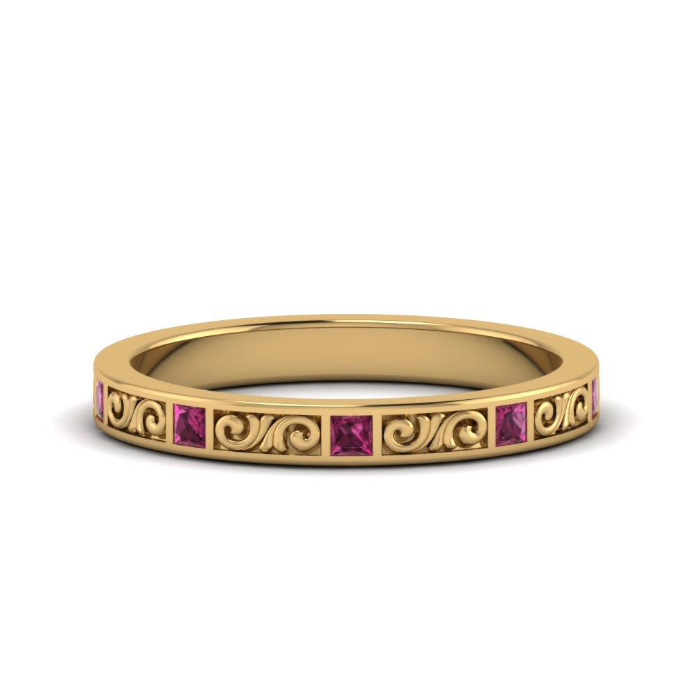 Yellow Gold Thin Filigree Band