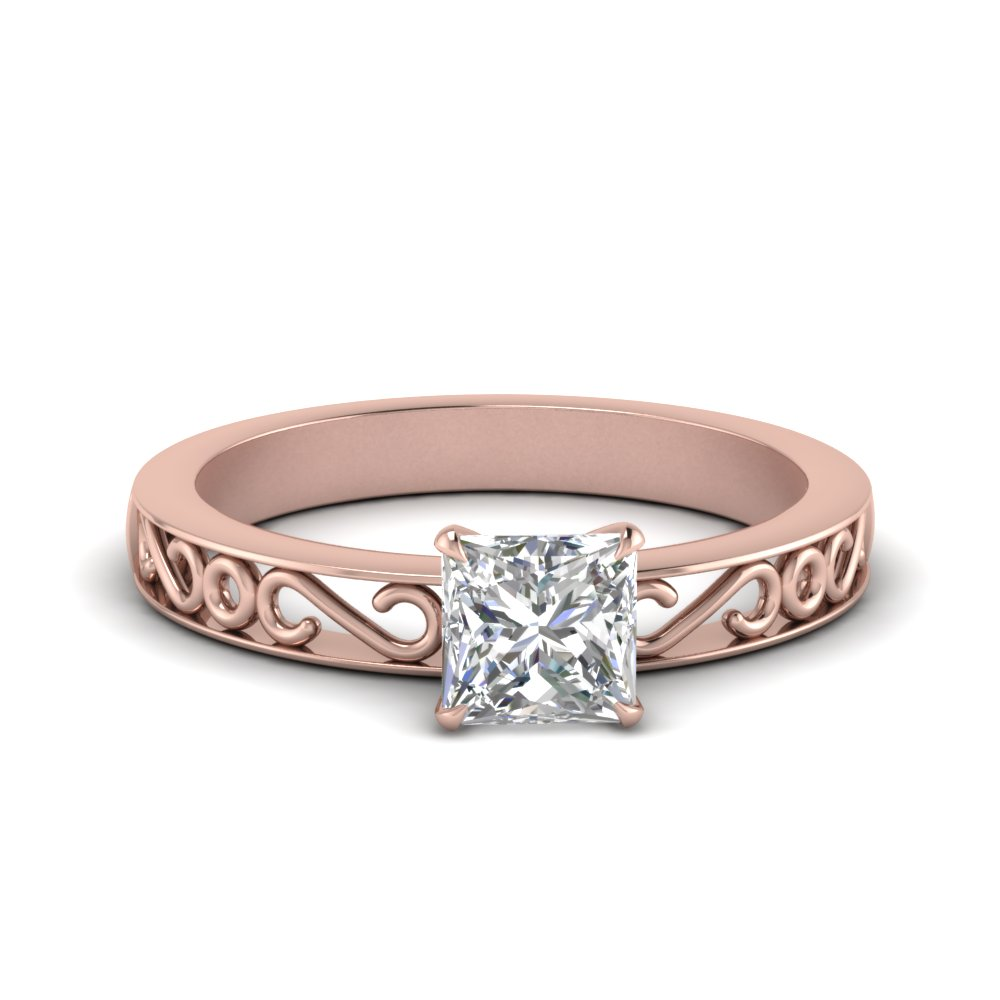 filigree-princess-cut-single-stone-moissanite engagement-ring-in-FDENS3289PRR-NL-RG