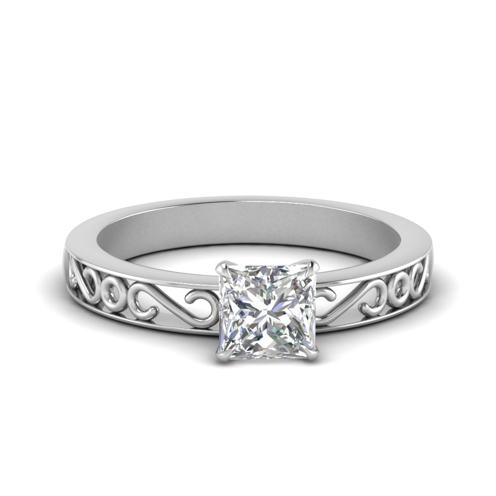 filigree-princess-cut-single-stone-moissanite engagement-ring-in-FDENS3289PRR-NL-WG