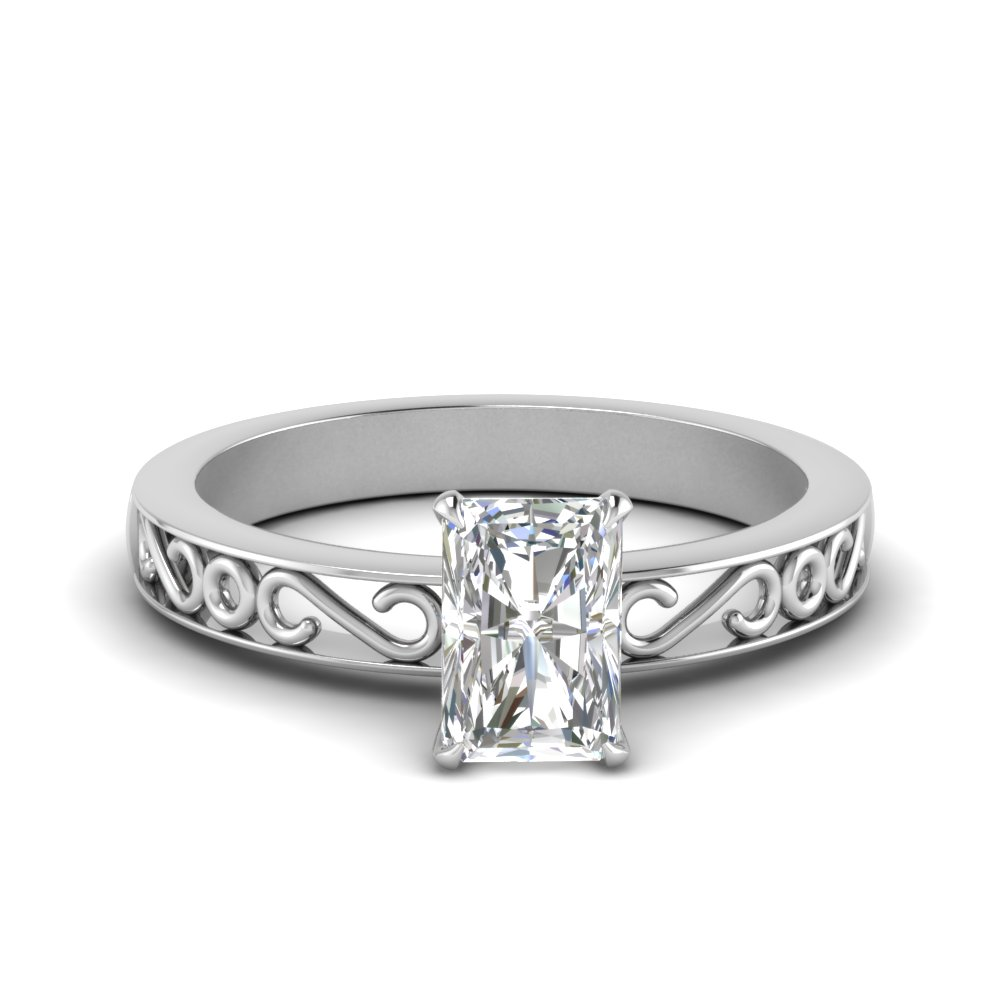 filigree-radiant-cut-single-stone-moissanite engagement-ring-in-FDENS3289RAR-NL-WG