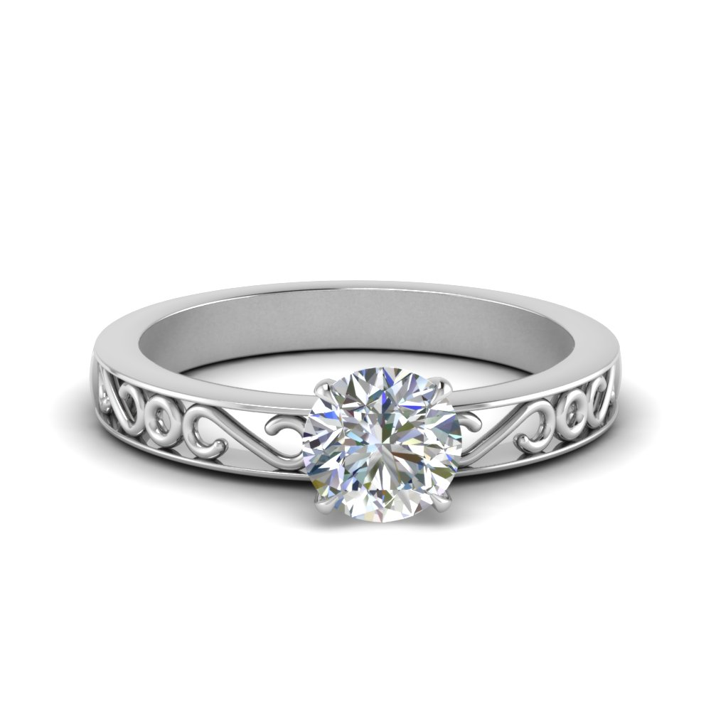 filigree-round-cut-single-stone-moissanite engagement-ring-in-FDENS3289ROR-NL-WG